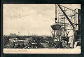 AUSTRALIA Loading Coal Newcastle. Postmark Newcastle to New Zealand. NEW SOUTH WALES 1d stamp. Perfect. - 40620 - Postcard