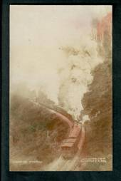 Tinted Real Photograph by Aldersley. Ascending the Rimutaka Incline. - 40666 - Postcard