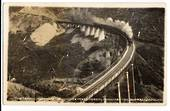 Real Photograph by W Beattie of Express Crossing the Hapuwhenua Viaduct. - 40671 - Postcard