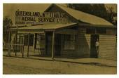 "AUSTRALIA ""Gold"" Postcard of one of Qantas' fiirst offices at Duck Street Longreach Queensland. - 40827 - Postcard"