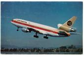 Coloured postcard of Continental McDonnell Douglas DC-10. - 40863 - Postcard