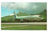 Coloured postcard of Air New Zealand DC-8. - 40882 - Postcard