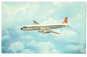 Coloured postcard of Northwest Orient Airlines DC-7. - 40970 - Postcard