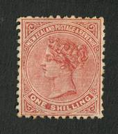 NEW ZEALAND 1882 Victoria 1st Second Sideface 1/- Red-Brown. Perf 12x11½. - 4203 - Mint