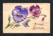 Embossed Silk Card. Happy Birthday. - 42073 - Postcard