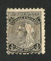 NEW ZEALAND 1882 Second Sideface ½d Black. Rotary Perf 10x11. - 4209 - Mint