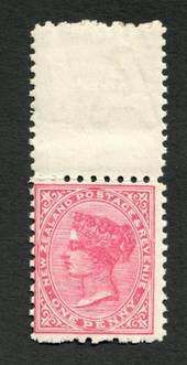 NEW ZEALAND 1882 Second Sideface 1d Rose. Rotary Perf 10x11. - 4210 - UHM