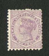 NEW ZEALAND 1882 Second Sideface 2d Purple.  Rotary Perf 10x11. - 4211 - Mint