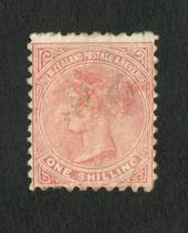 NEW ZEALAND 1882 Second Sideface 1/- Pale Red-Brown.  Rotary Perf 10x11. - 4212 - Mint