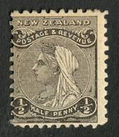 NEW ZEALAND 1882 Second Sideface ½d Grey-Black. Rotary Perf 11. - 4214 - Mint