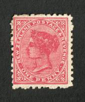 NEW ZEALAND 1882 Second Sideface 1d Deep Carmine. Rotary Perf 11. - 4216 - MNG