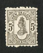 NEW ZEALAND 1882 Second Sideface 5d Olive-Black. Rotary Perf 10x11. - 4221 - UHM
