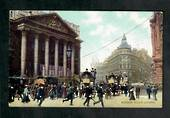 Coloured postcard of Mansion House London. - 42561 - Postcard
