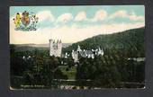 Coloured postcard of Balmoral Castle. Coat of Arms. - 42587 - Postcard