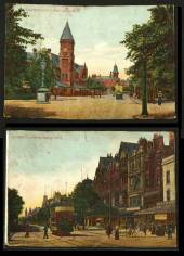 Coloured postcards of Southport Lord Street. One looking south and the other north. - 43067 - Postcard