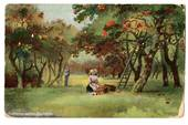 Art card. Gatheing apples. Cuckfield. Two bad corners two dull. - 43760 - Postcard