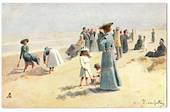 Delightful Art Card by Tuck. After the original drawing by E van Goethan. The Joys of the Sands. - 43786 - Postcard