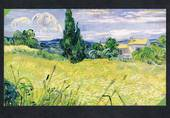 Coloured postcard of Landscape with Green Corn by van Gogh. - 444731 - Postcard