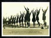 Modern Black and White Postcard of the 1932 All Blacks in the Haka. Light crease. - 444851 - Postcard