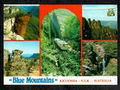 AUSTRALIA Modern Coloured Postcard of Blue Mountains including Railway. - 444933 - Postcard