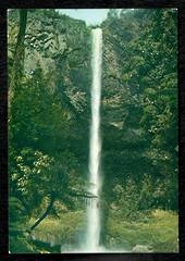Modern Coloured Postcard by E Harrison of Bridal Veil Falls. - 446401 - Postcard