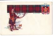Coloured postcard of Clan Lindsay. Tartan and Arms. - 44729 - Postcard