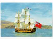 Coloured postcard of the replica of the Endeavour published by the Capt Cook Memorial Museum. - 44982 - Postcard