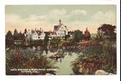 Coloured postcard of Bath House Buildings and Sanitorium Grounds Rotorua. - 46041 - Postcard