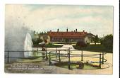 Coloured postcard of <alfroy Geyser and Government Sanitorium Rotorua. - 46053 - Postcard