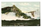 Coloured postcard by E Le Grice of Gibraltar Rock and Frying Pan Flat. - 46081 - Postcard