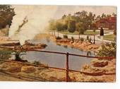 Coloured postcard by R G Marsh of The Malfroy Geyser. - 46135 - Postcard