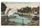 Coloured postcard by Le Grice of General View of Malfroy Geysers Sanatorium Gardens. - 46189 - Postcard