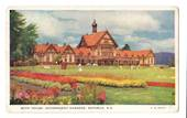 Coloured postcard by G B Scott of Bath House Government Gardens Rotorua. - 46291 - Postcard