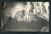 Real Photograph by Radcliffe of Glow Worms Palace and Underground River Waitomo Caves. - 46402 - Postcard