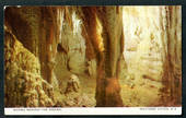 Coloured postcard by Tanner Couch of the Shawl behind the Organ Waitomo Caves - 46443 - Postcard