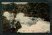 Coloured postcard by Muir and Moodie of Aratiatia Rapids Wairakei. - 46697 - Postcard