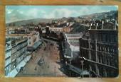 Coloured postcard of Lambton Quay Wellington. - 47699 - PcardFine