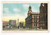 Coloured postcard of Jervois Quay and Post Office. - 47735 - Postcard