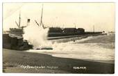 Real Photograph by Radcliffe of the Breakwater Napier. - 47916 - Postcard