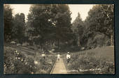 Real Photograph by Radcliffe of Public Gardens Napier. - 47926 - Postcard