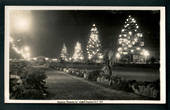 Real Photograph by A B Hurst & Son of Marine Parade by Night. - 47942 - Postcard
