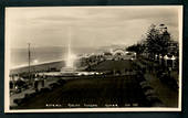 Real Photograph by A B Hurst & Son of Evening Marine Parade Napier. - 47995 - Postcard