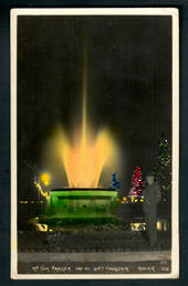Coloured postcard of Tom Parker Fountain at night. - 48063 - Postcard