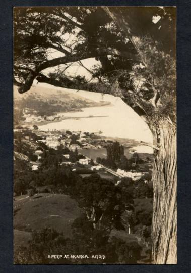 Real Photograph. A peep at Akaroa. - 48263 - Postcard