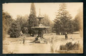 Real Photograph by Aldersley of The Gardens Christchurch. - 48389 - Postcard