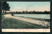Coloured postcard by Muir and Moodie of Lake Victoria Hagley Park Christchurch. - 48537 - Postcard