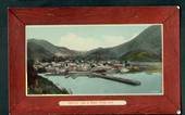 Coloured postcard by Muir and Moodie of Town and Wharf Picton. - 48726 - Postcard
