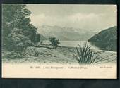 Early Undivided Coloured Postcard by Muir & Moodie of Cathedral Peaks Lake Manapouri. - 49055 - Postcard