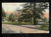 Coloured postcard by Fergusson Bros of the Public Gardens Dunedin. - 49107 - Postcard