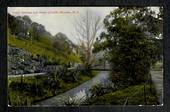 Coloured postcard by Fergusson Bros of the Public gardens and Water of Leith. - 49111 - Postcard